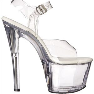 Pleaser Women's Platform Clear dancer heels